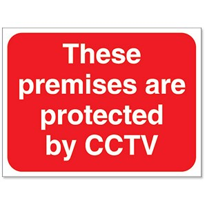 Image of Stewart Superior Outdoor Premises Protected By CCTV Sign Foamboard Ref FB044