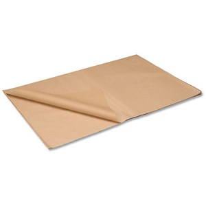 Image of Kraft Paper Packaging Sheets / 70gsm / 750x1150mm / Brown / Pack of 50