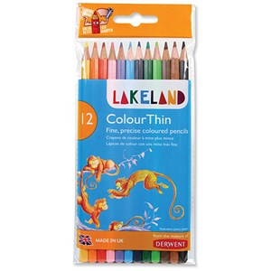 Image of Lakeland Assorted Colouring Pencils - Pack 12
