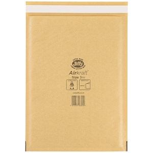 Image of Jiffy Airkraft No.3 Bubble Bag Envelopes / 205x320mm / Gold / Pack of 50