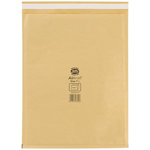 Image of Jiffy Airkraft No.7 Bubble Bag Envelopes / 340x445mm / Gold / Pack of 50