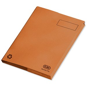 Image of Elba Clifton Back Pocket Flat Files / 50mm / Foolscap / Orange / Pack of 25