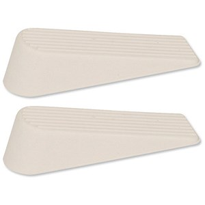 Image of Door Wedge Rubber / White / Pack of 2