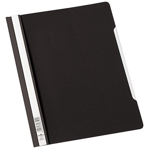 Image of Durable Clear View Folders with Index Strip / Extra Wide / Plastic / A4 / Black / Pack of 50