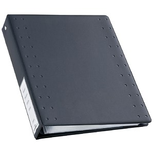 Image of Durable CD & DVD Index 40 Ring Binder with 10 Pockets for 40 Disks / A4 / Charcoal