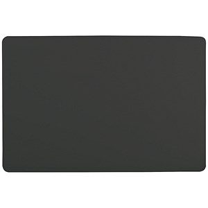 Image of Durable Desk Mat with Contoured Edge / W650xD520mm / Black
