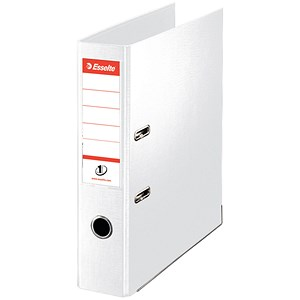 Image of Esselte No. 1 Power A4 Lever Arch Files / Slotted Covers / 75mm Spine / White / Pack of 10