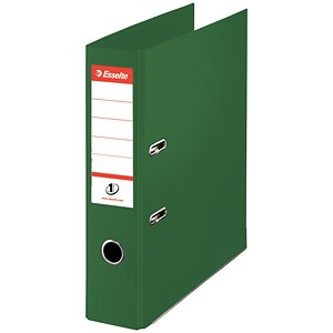 Image of Esselte No. 1 Power A4 Mini Lever Arch Files / Slotted Covers / 50mm Spine / Green / Pack of 10