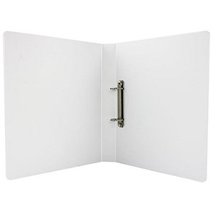 Image of Esselte Presentation Ring Binder / 2 D-Ring / 40mm Spine / 25mm Capacity / A4 / White / Pack of 10