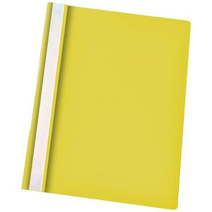 Image of Esselte Report Flat Files / Lightweight Plastic / Clear Front / A4 / Yellow / Pack of 25