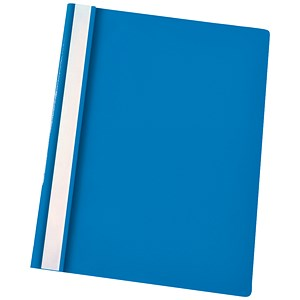 Image of Esselte Report Flat Files / Lightweight Plastic / Clear Front / A4 / Blue / Pack of 25