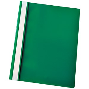 Image of Esselte A4 Report Flat Files / Green / Pack of 25