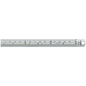 Image of Linex Ruler Stainless Steel Imperial and Metric with Conversion Table 150mm Ref Lxesl15