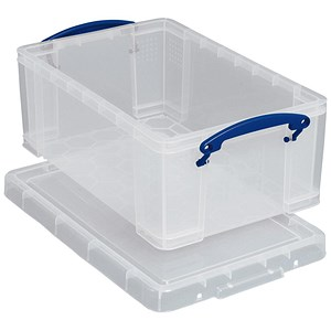 Image of Really Useful Storage Box / Clear Plastic / 5 Litre / Pack of 3
