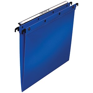 Image of Elba Ultimate Suspension Files / V Base / 15mm Capacity / Foolscap / Blue / Pack of 25