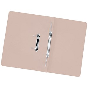 Image of 5 Star Transfer Spring Files 315gsm Capacity 38mm Foolscap Buff Ref 710467 [Pack 50]
