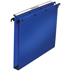 Image of Elba Ultimate Suspension Files / Square Base / 30mm Capacity / Foolscap / Blue / Pack of 25