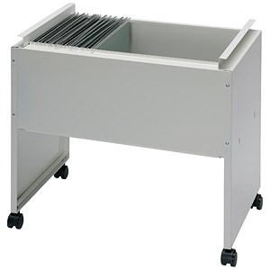 Image of Steel Filing Trolley / Capacity: 120 A4 or Foolscap Files / Grey