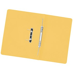 Image of 5 Star Transfer Spring Files 315gsm Capacity 38mm Foolscap Yellow [Pack 50]