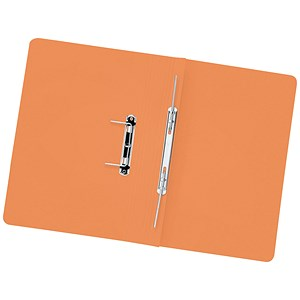 Image of 5 Star Transfer Spring Files 315gsm Capacity 38mm Foolscap Orange [Pack 50]