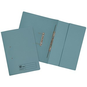 Image of 5 Star Transfer Spring Files with Inside Pocket 315gsm 38mm Foolscap Blue [Pack 25]