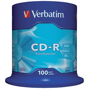 Image of Verbatim CD-R Spindle - Pack of 100