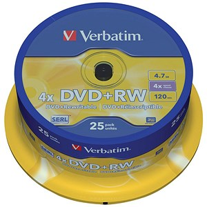 Image of Verbatim DVD+RW Spindle - Pack of 25