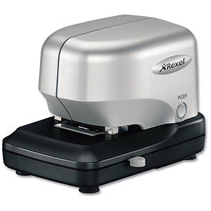 Image of Rexel Stella 30 Compact Electric Stapler / Capacity: 30 Sheets / Silver & Black