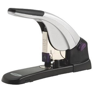 Image of Rexel Mercury Heavy Duty Lever Arm Stapler & 400 Staples / Steel / 120 Sheet Capacity / Grey