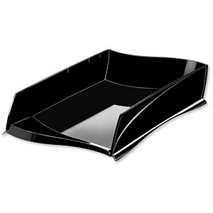 Image of CEP Ellypse Letter Tray for Stacking or Staggering - Black