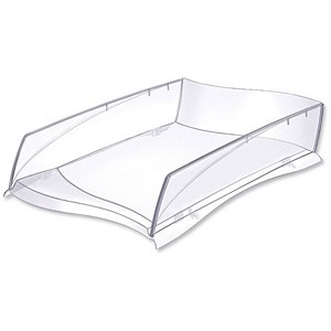 Image of CEP Ellypse Letter Tray for Stacking or Staggering - Crystal