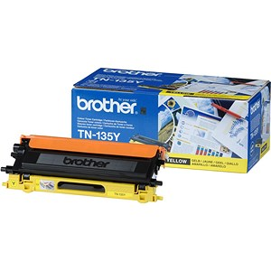 Image of Brother TN135Y Yellow Laser Toner Cartridge