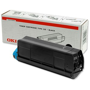 Image of Oki C5300 Black Laser Toner Cartridge