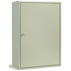 Image of Key Cabinet Steel with Lock 300 Colour Tags 300 Numbered Hooks Grey