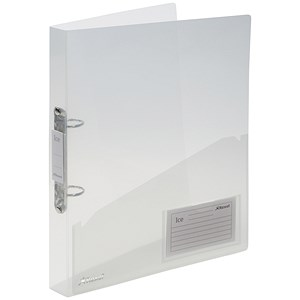Image of Rexel Ice Ring Binder / 2 O-Ring / 40mm Spine / 25mm Capacity / A4 / Translucent Clear / Pack of 10
