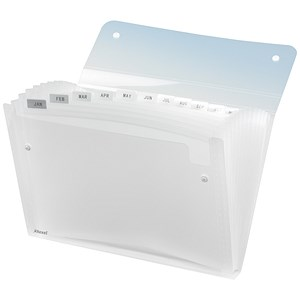Image of Rexel Ice Expanding Files / Durable Polypropylene / 13 Pockets / A4 / Clear