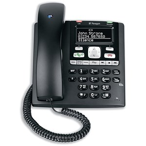 Image of BT Paragon 650 Telephone Corded Answer Machine 200 Memories SMS Caller Inverse Display Ref 32116