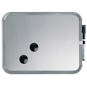 Image of Nobo SlimLine Magnetic Drywipe Board / W360xH280xD14mm / Silver