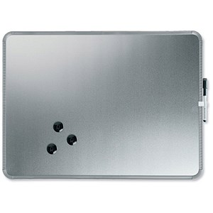 Image of Nobo SlimLine Magnetic Drywipe Board / 430x14x580mm / Silver