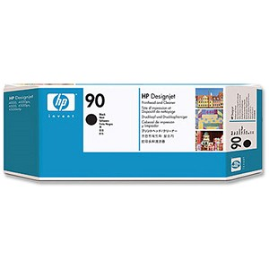 Image of HP 90 Black Printhead and Printhead Cleaner