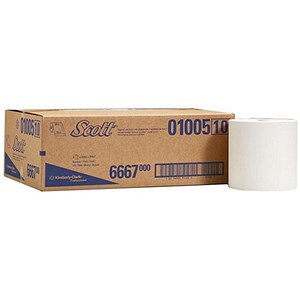 Image of Scott Hand Towel Roll / Single Ply for Ripple Dispenser / 6 Rolls of 500 Sheets