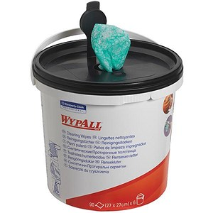 Image of Wypall Kimtuf Hand Cleaning Wipes Bucket - 90 Sheets