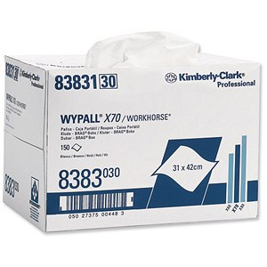 Image of Wypall X70 Brag Box Cleaning Wipers - Approx. 150 Cloths