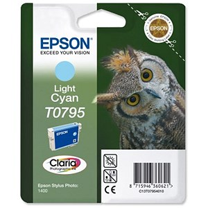 Image of Epson T0795 Light Cyan Claria Inkjet Cartridge