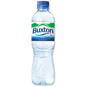 Image of Buxton Natural Still Mineral Water - 24 x 500ml Plastic Bottles