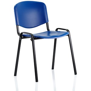 Image of Trexus Polypropene Stacking Chair - Blue