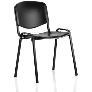 Image of Trexus Polypropene Stacking Chair - Black