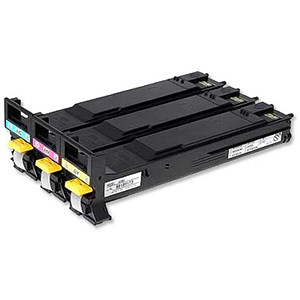 Image of Konica Minolta A06VJ53 Laser Toner Cartridge Value Pack - Cyan, Magenta and Yellow (3 Cartridges)