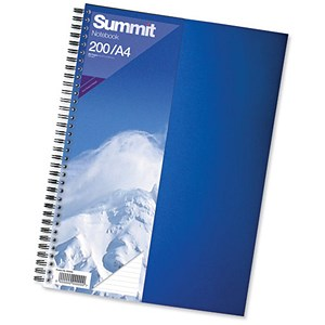 Image of Summit Card Cover Wirebound Notebook / A4 / Ruled / 192 Pages / Pack of 5