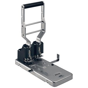 Image of Rexel HD2150 Heavy-duty 2-Hole Punch / Silver and Black / Punch capacity: 160 Sheets